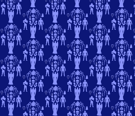 Silent_Alien_Damask fabric by morrigoon on Spoonflower - custom fabric