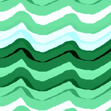 Zig Zag stripe / Emerald fabric by paragonstudios on Spoonflower - custom fabric