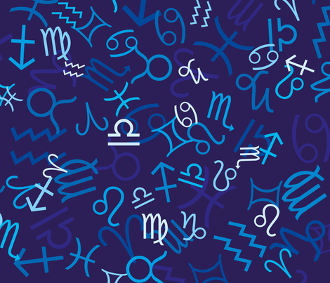 Zodiac fabric marketolya spoonflower for Astrology fabric