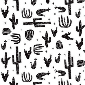 cactus black and white