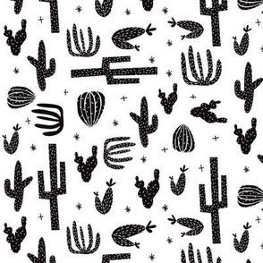 cactus black and white