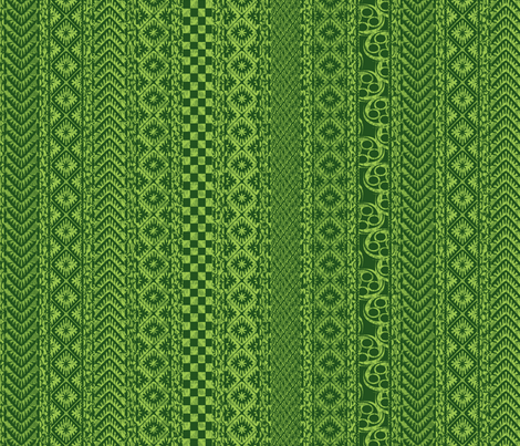 african_stripes-green fabric by glimmericks on Spoonflower - custom fabric