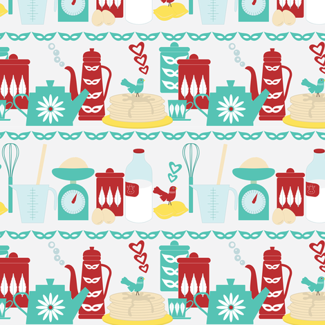 Coffee and Pancakes fabric by ebygomm on Spoonflower - custom fabric