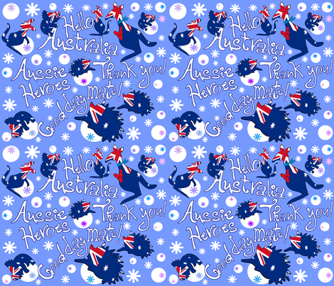Aussie Heroes Thank you fabric by cutiecat on Spoonflower - custom fabric