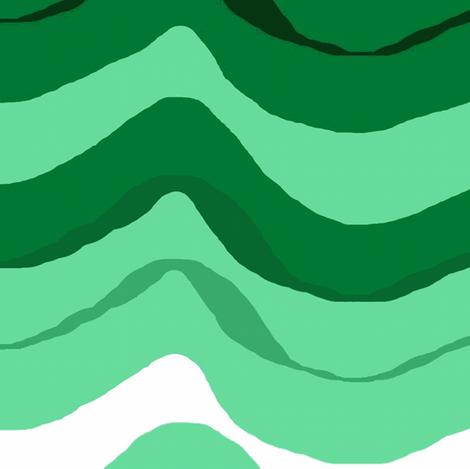 zig zag wave /Emerald fabric by paragonstudios on Spoonflower - custom fabric