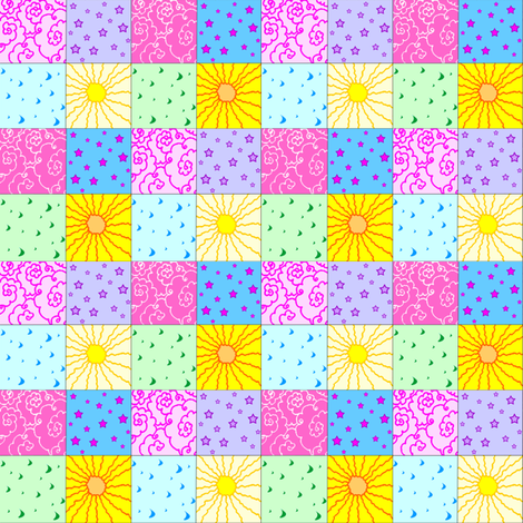 things in the sky fabric by krs_expressions on Spoonflower - custom fabric