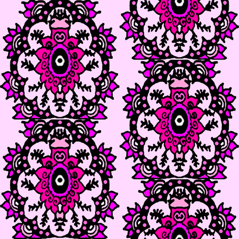 pink and black fabric by krs_expressions on Spoonflower - custom fabric