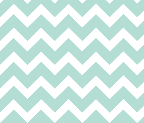 Mint Chevron - Large Scale fabric by sweetzoeshop on Spoonflower - custom fabric
