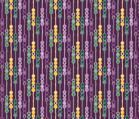 Mardi Gras Beads fabric by leighr on Spoonflower - custom fabric