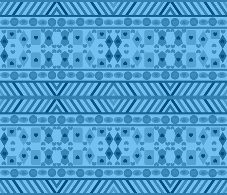 GEOMETRIC BLUES fabric by bluevelvet on Spoonflower - custom fabric