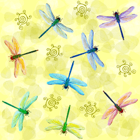 dragonflies - big fabric by krs_expressions on Spoonflower - custom fabric