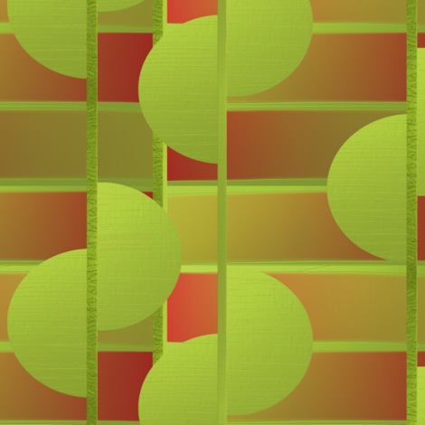Spring half circles by Su_G fabric by su_g on Spoonflower - custom fabric