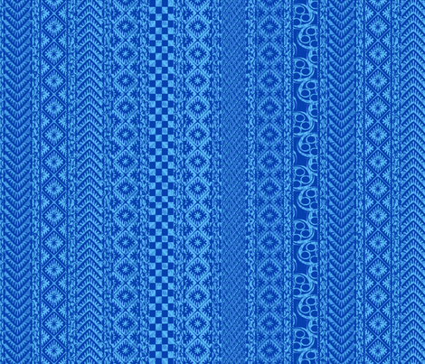 african_stripes-blue fabric by glimmericks on Spoonflower - custom fabric