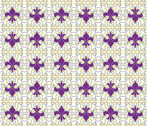 Beads and Fleur de lis fabric by empireruhl on Spoonflower - custom fabric