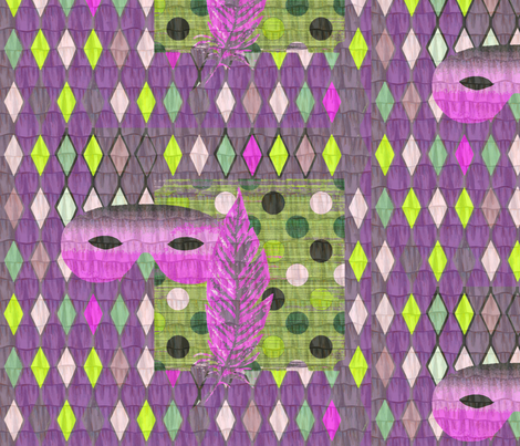 Mardi gras still life fabric by lucybaribeau on Spoonflower - custom fabric