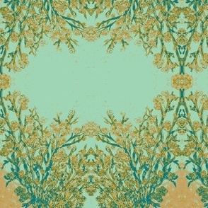 Beautiful Branches-Aqua and Teal