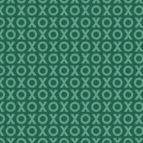 Hugs & Kisses - green fabric by jjtrends on Spoonflower - custom fabric