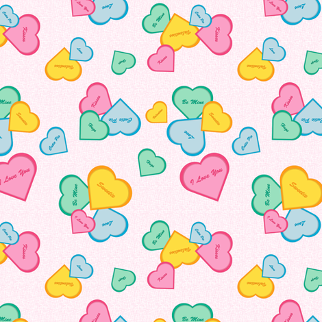 Hearts on Pink fabric by jjtrends on Spoonflower - custom fabric