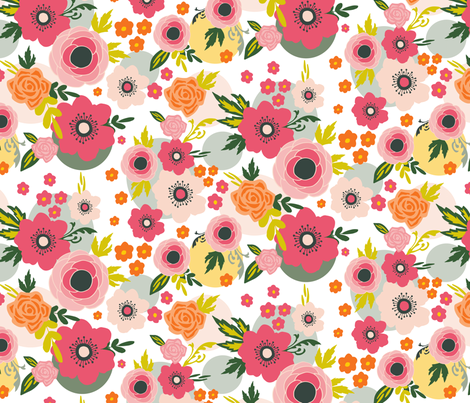 Springbloom fabric by petrakern on Spoonflower - custom fabric