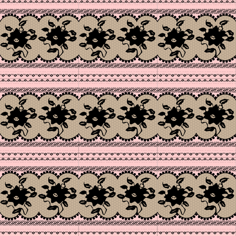 Black laces fabric by lilola on Spoonflower - custom fabric
