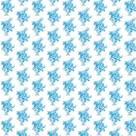 small-bunny-blue fabric by birgitterosenkilde on Spoonflower - custom fabric