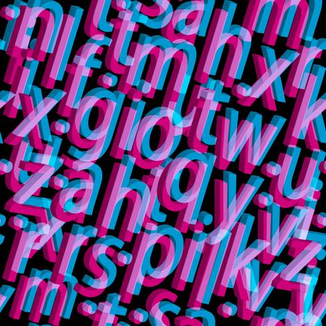 Alphabet fabric by lilola on Spoonflower - custom fabric