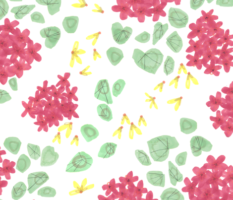 Geraniums fabric by jo_clark on Spoonflower - custom fabric