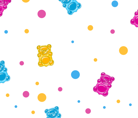Seamless pattern with jelly bears fabric by tomuato on Spoonflower - custom fabric