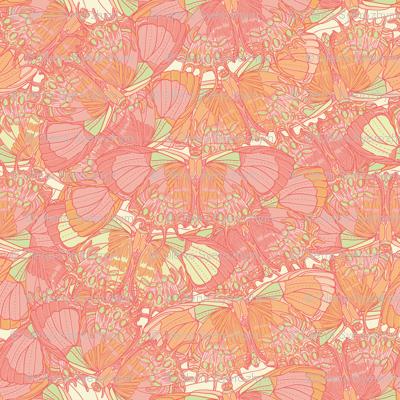 Seamless texture with butterflies