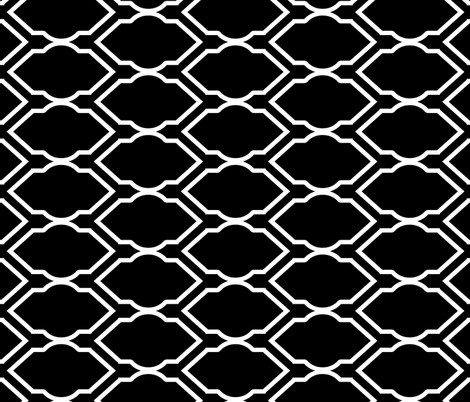 Black and White Tile fabric by pond_ripple on Spoonflower - custom fabric