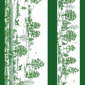 Toile Greyhound Border in green