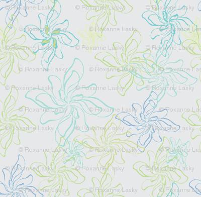 FlowerPrintTwistCoolGray