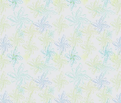 FlowerPrintTwistCoolGray fabric by roxanne_lasky on Spoonflower - custom fabric