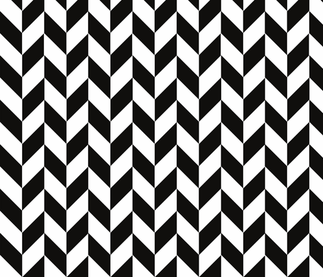 Small Black-White Herringbone fabric by gates_and_gables on Spoonflower - custom fabric