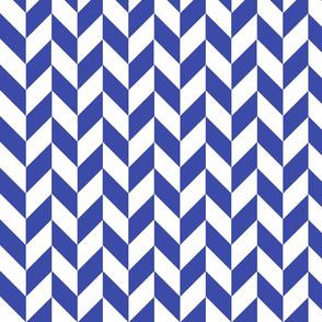 Small Blue-White Herringbone