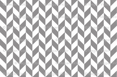 Small Gray-White Herringbone