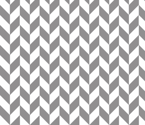 Small Gray-White Herringbone fabric by gates_and_gables on Spoonflower - custom fabric