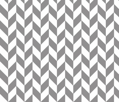 Small Gray-White Herringbone fabric by megankaydesign on Spoonflower - custom fabric
