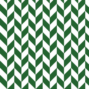 Small Green-White Herringbone