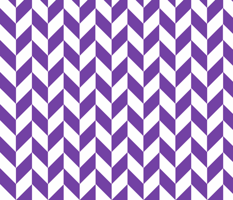 Small Purple-White Herringbone fabric by gates_and_gables on Spoonflower - custom fabric