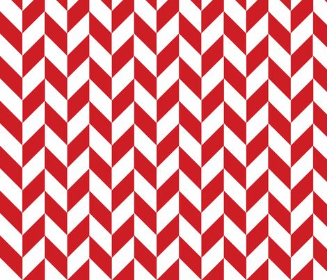 Small Red-White Herringbone fabric by megankaydesign on Spoonflower - custom fabric