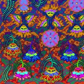 Batik Flowers, Boho-chic