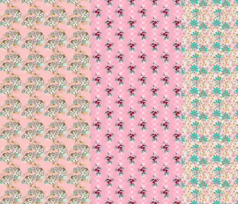 Rosanna floral stripes fabric by joanmclemore on Spoonflower - custom fabric