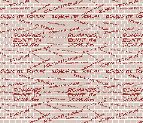 Romans Go Home fabric by studiofibonacci on Spoonflower - custom fabric