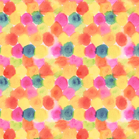 painted dots-ed fabric by studiojelien on Spoonflower - custom fabric