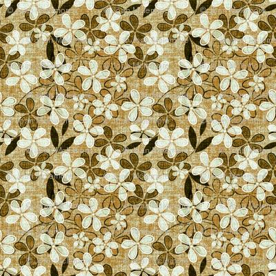Floral on Linen in beige