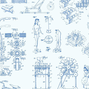 Patent Drawings - Toys (blue)