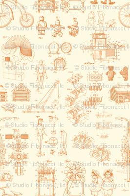 Patent Drawings - Toys (orange)