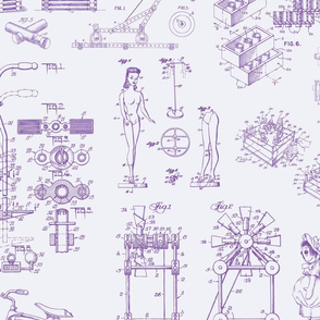 Patent Drawings - Toys (purple)