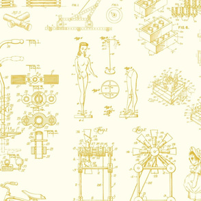 Patent Drawings - Toys (yellow)